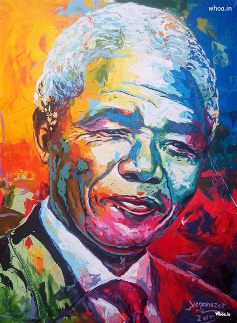 Nelson Mandela The Legend Hero And His Colourful HD Image
