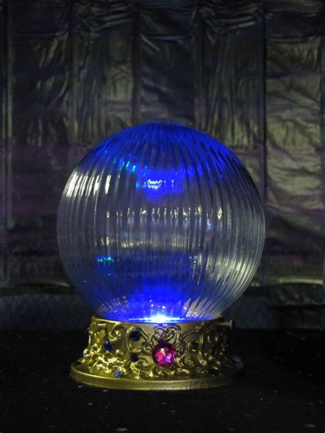 Crystal ball made using a ceiling light, puffy paint