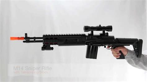 M14 Sniper Rifle with Telescoping Stock - YouTube