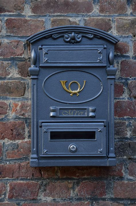 Free Images : wood, blue, door, mailbox, letter box