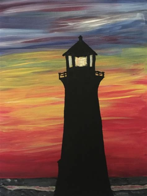 Pin by Kathy Shope-Kunes on Paint & Sip ~ Lighthouse