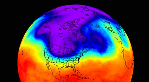 NASA's infrared imagery shows cold snap over Canada