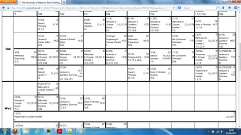 1st year Computer Science, typical time-table? - The