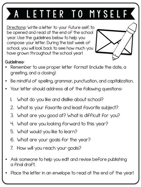 Have your student write a letter to their future self! 1