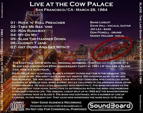 SoundBoard - Slade - The Last Show - Live at the Cow