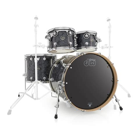"""DW Drums Performance Series 22"""" 4 Piece Shell Pack, Black"""
