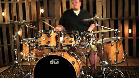 DW Drum Collectors Natural Lacquer Over Cherry Shells W