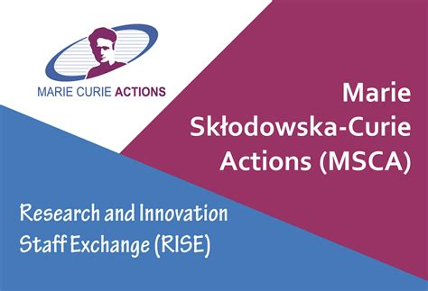 MSCA RISE Call for Proposals 2019 is now open (deadline 2