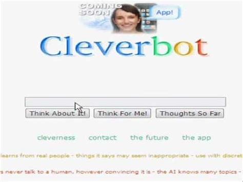 Cleverbot and I talk sex on YOUZEEK