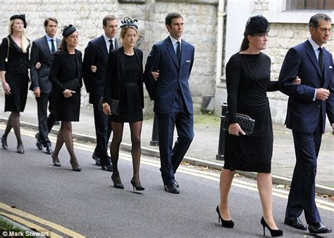 Prince Charles joined by Harry and William at funeral of